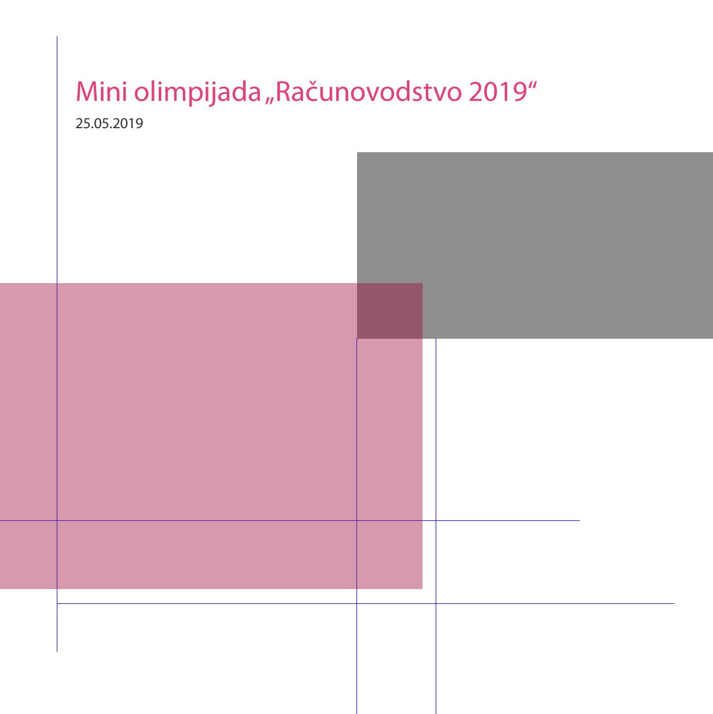 """Mini olimpijada """"Računovodstvo 2019"""""""
